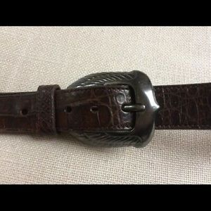 Ghurka Crocodile Belt Leather Buckle Vintage
